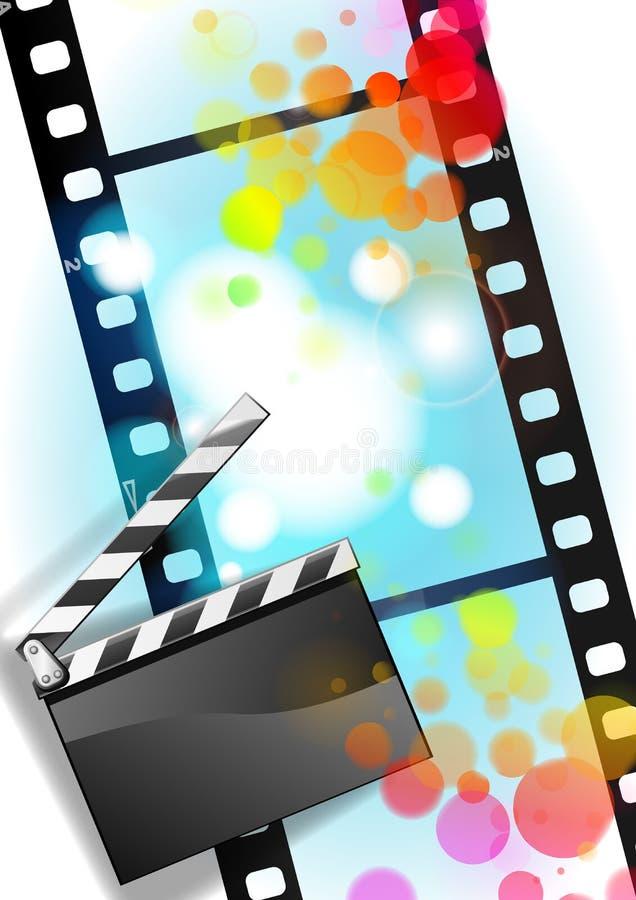 Filmfilm und Scharnierventilvorstandhintergrund lizenzfreie abbildung