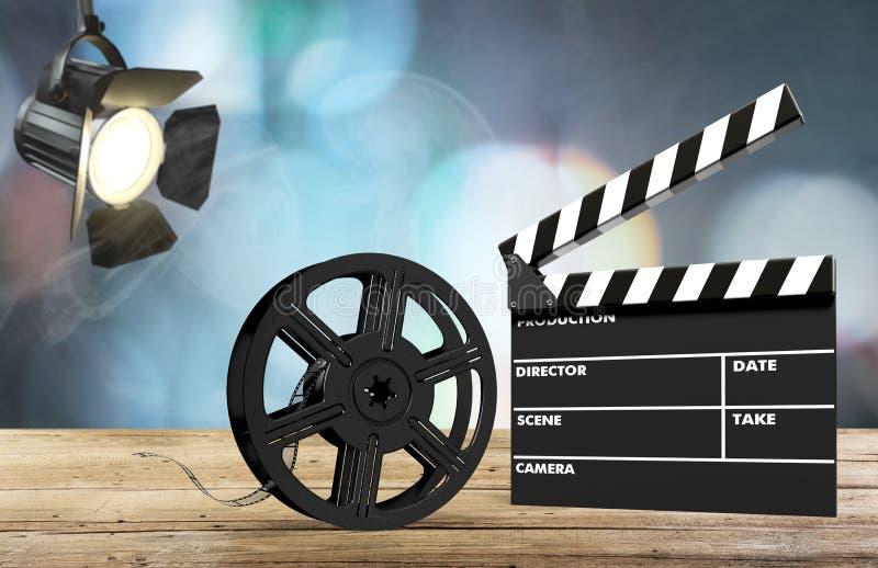 Filmfilmbakgrund arkivbilder