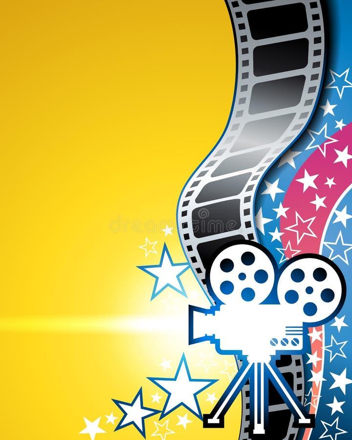 Filmfilmbakgrund royaltyfri illustrationer