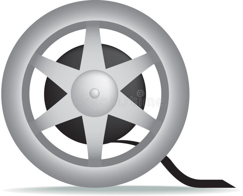 Filmfilmtechnik-Filmbandspule stock abbildung