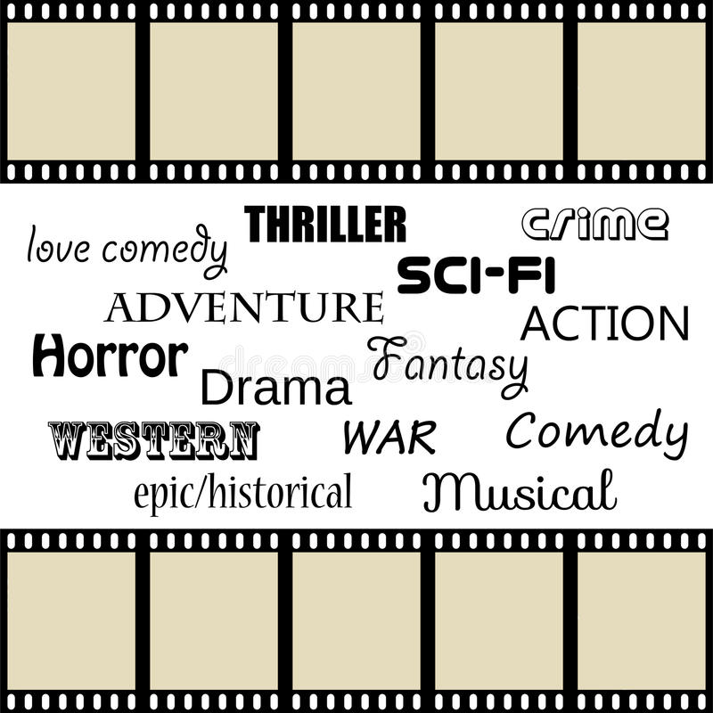 Filmgenrer stock illustrationer
