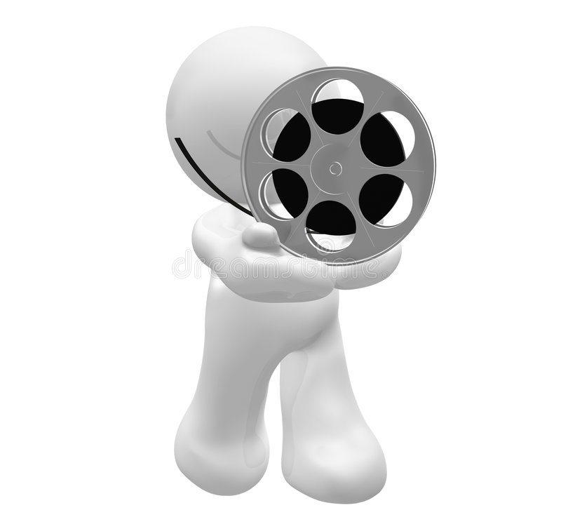 filmgrabb som presenterar rullrullwhite stock illustrationer