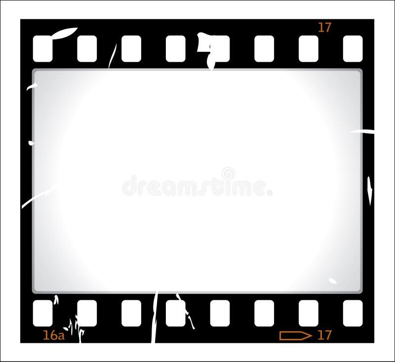 filmgrungeremsa stock illustrationer