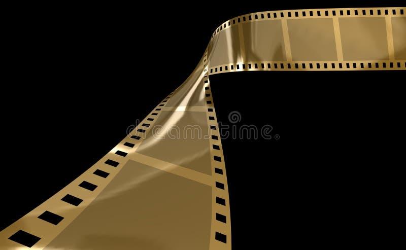 filmguld royaltyfri illustrationer