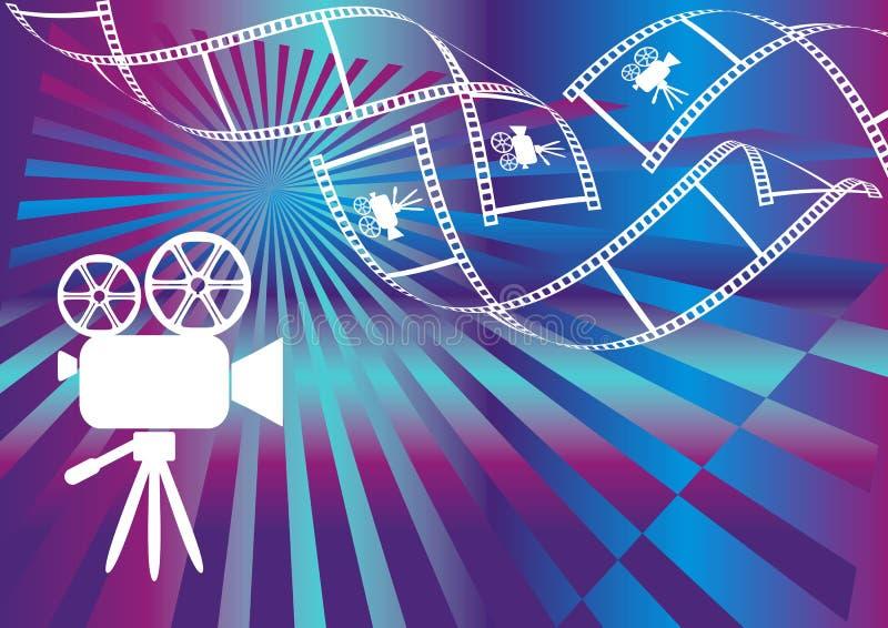 Filmhintergrund stock abbildung