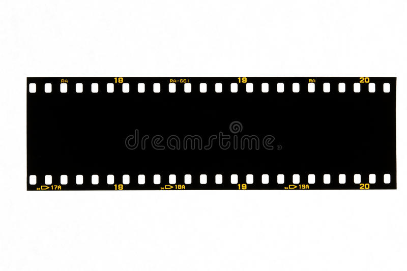 Filmina nera fotografia stock libera da diritti