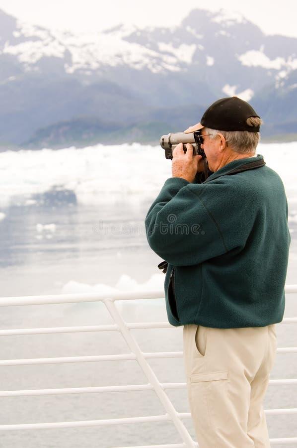 Filming Alaska royalty free stock photo