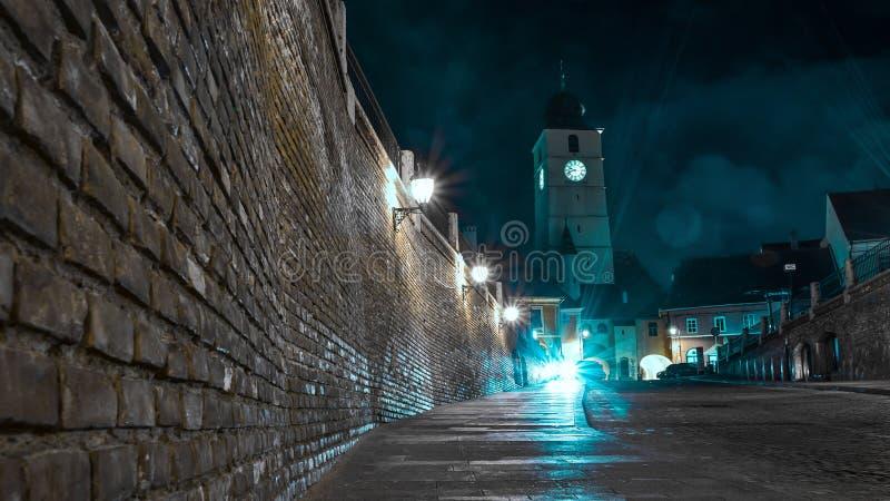 Filmisk sikt av Sibiu royaltyfri foto