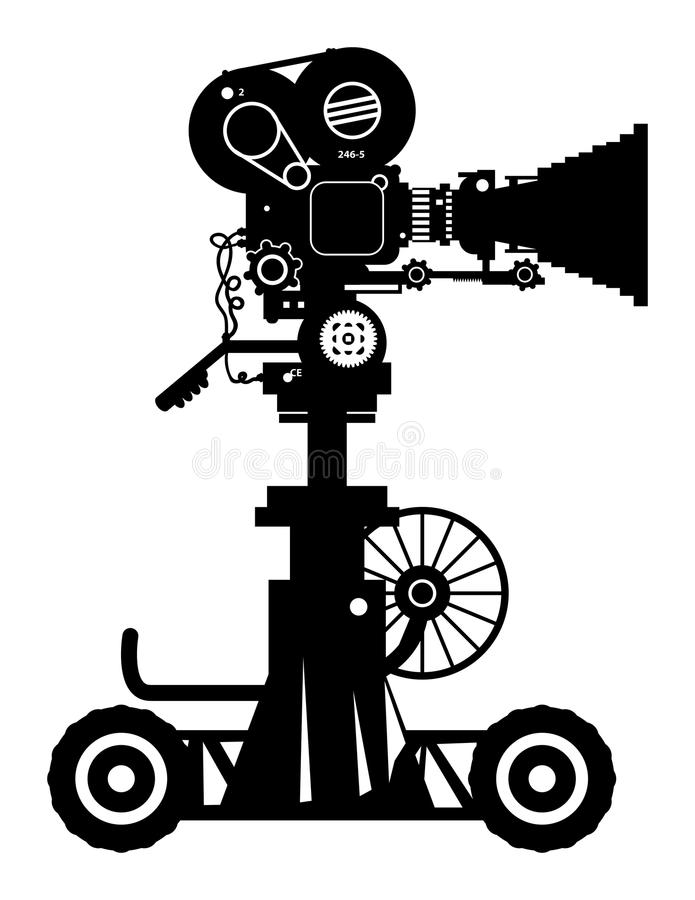 Filmkamera stock abbildung
