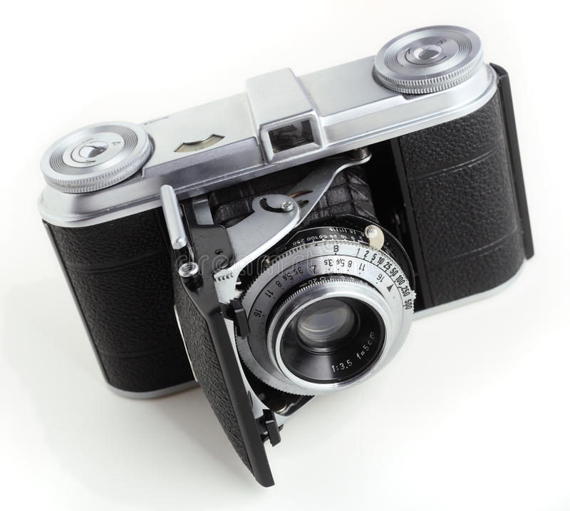 Filmkamera der Antike 35mm lizenzfreie stockbilder