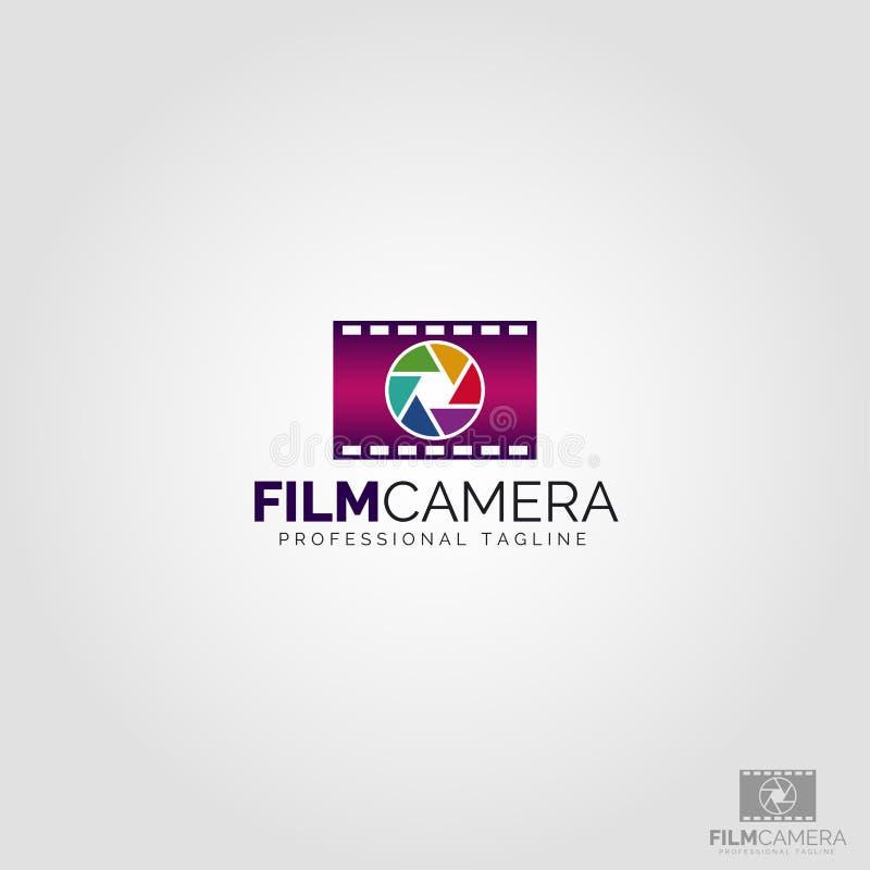 Filmkamera Logo Template vektor illustrationer