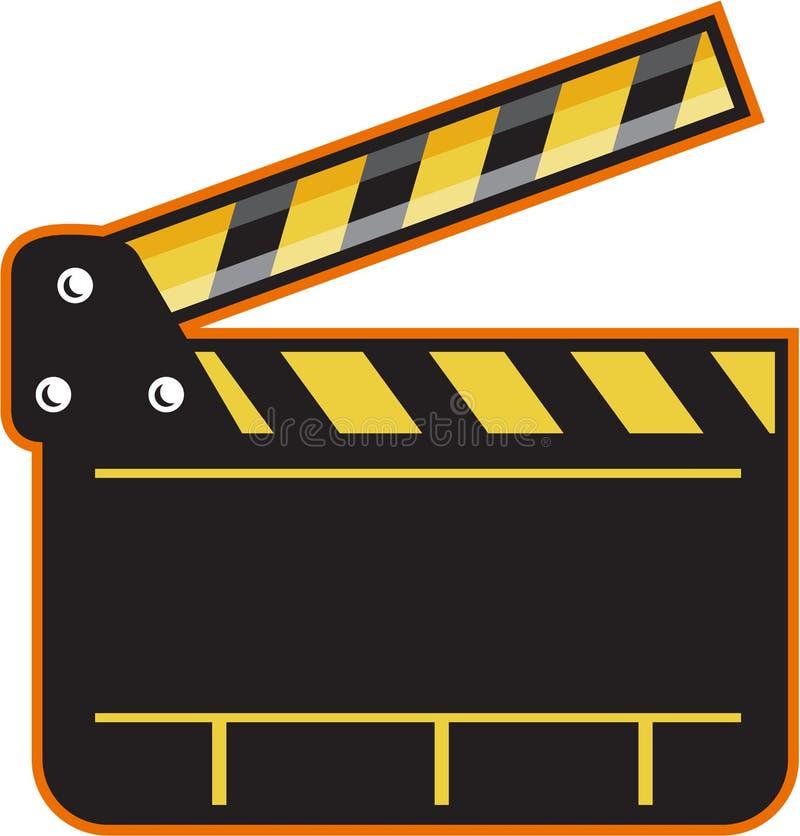 Filmkameran kritiserar öppet Retro för Clapperbräde royaltyfri illustrationer
