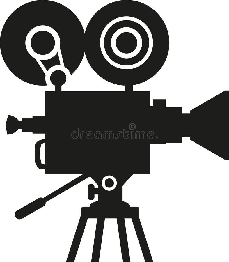 Filmkameraschattenbild vektor abbildung