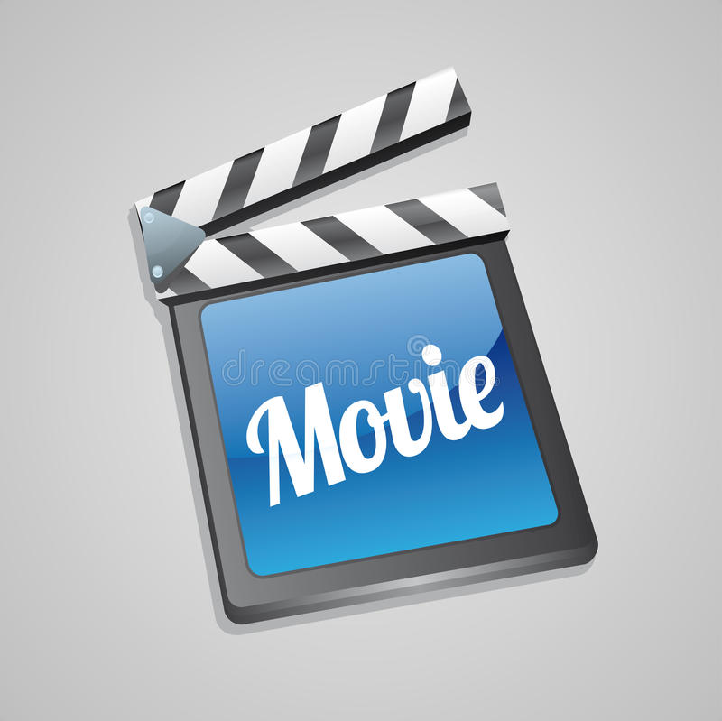 Filmklatschen-Vorstandkino   stock abbildung