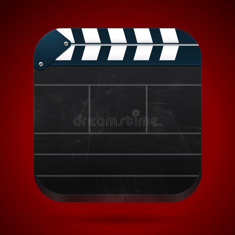 Filmklatschenvorstandkino-vektorabbildung vektor abbildung