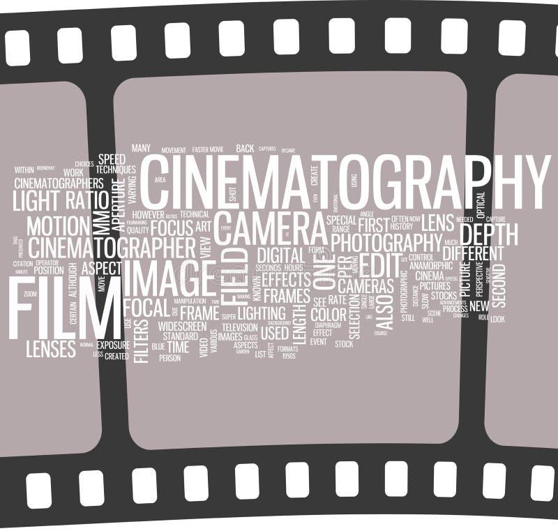 filmkonstaffisch stock illustrationer