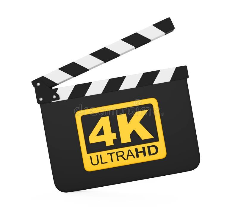 Filmlei met 4K ultra HD-Geïsoleerd Pictogram vector illustratie