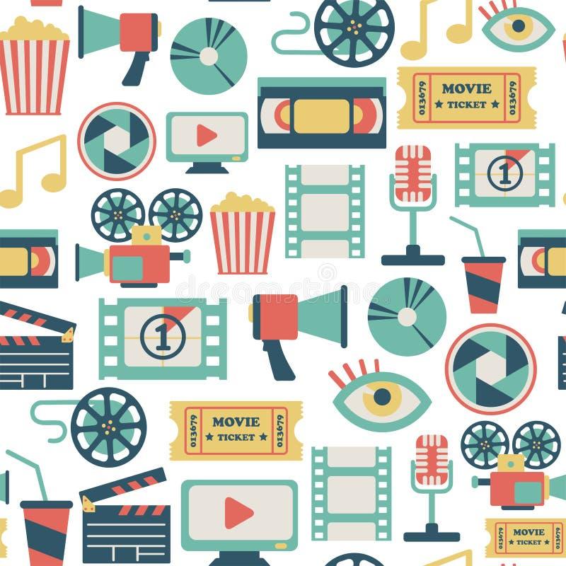 Filmmodell stock illustrationer