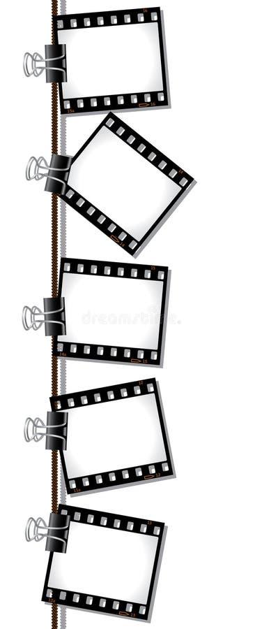 filmnegationrad vektor illustrationer