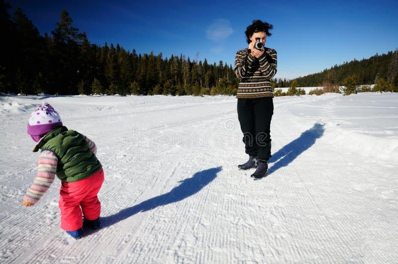 filmowanie śnieg zdjęcie royalty free