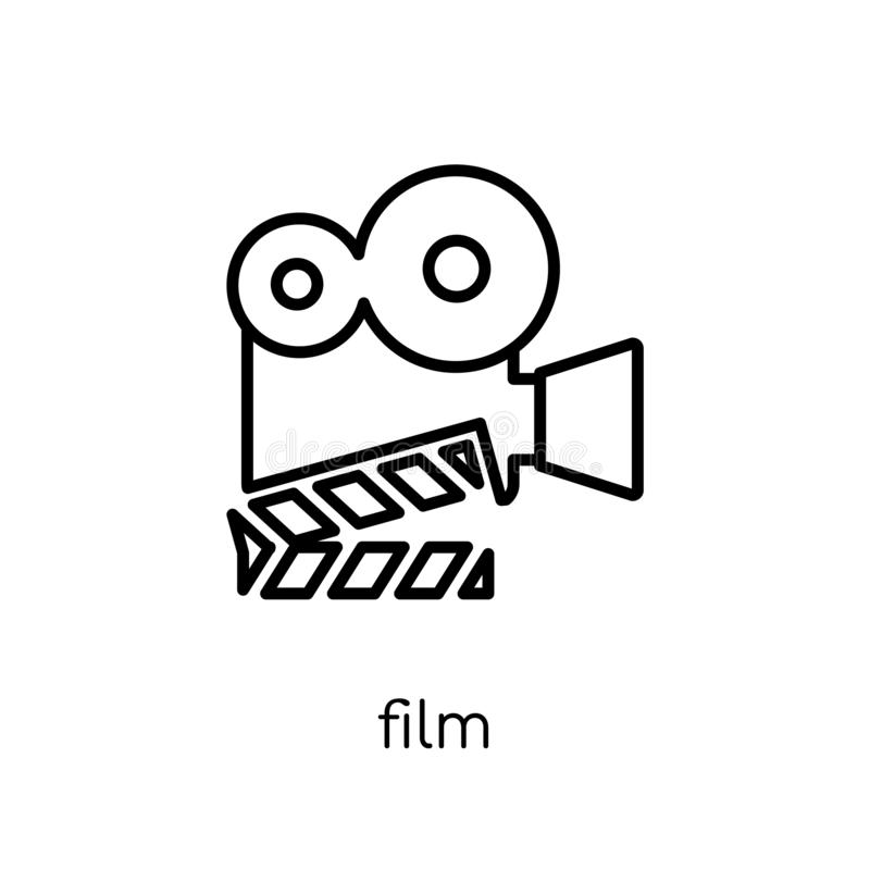 Filmpictogram  royalty-vrije illustratie