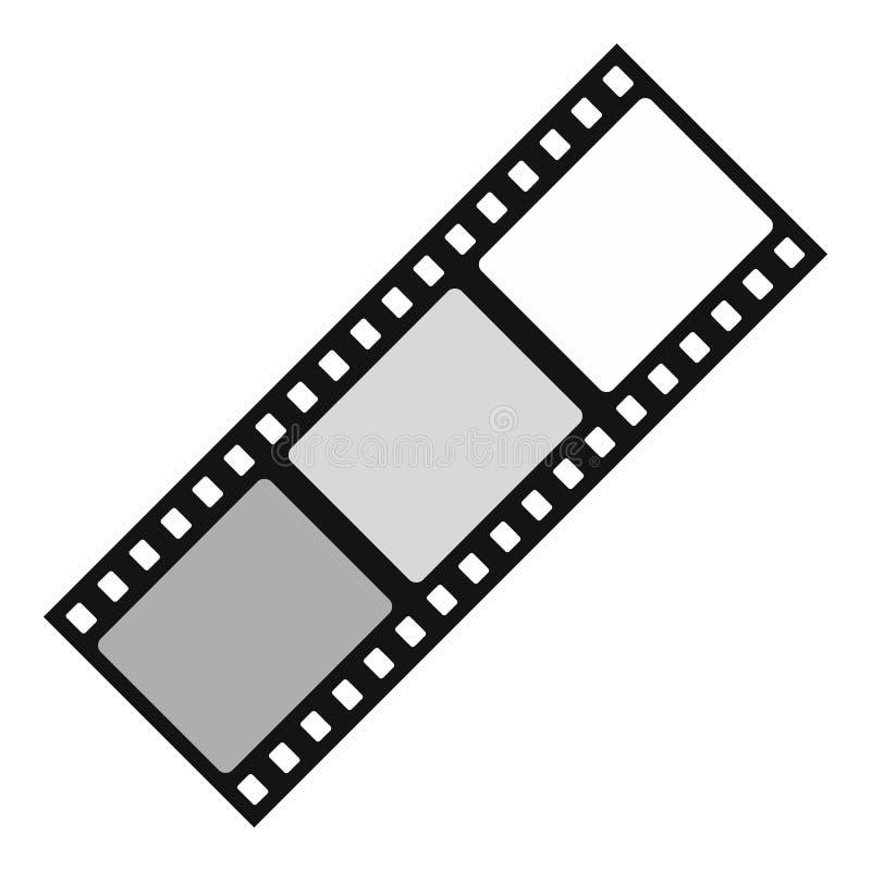 Filmpictogram, vlakke stijl royalty-vrije illustratie