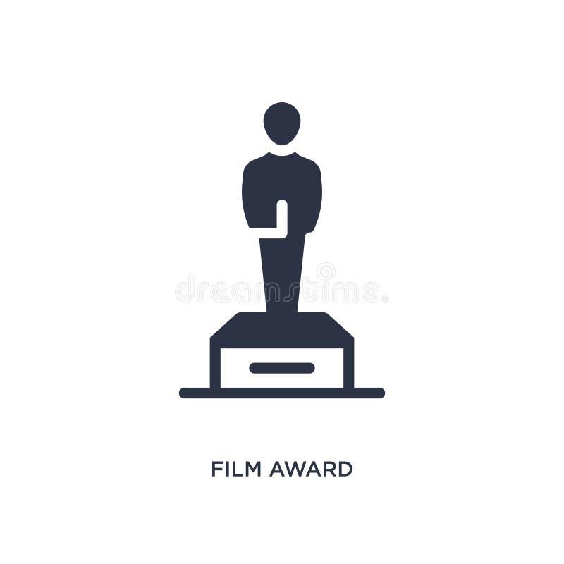 Filmpreisikone auf weißem Hintergrund Einfache Elementillustration vom Kinokonzept vektor abbildung