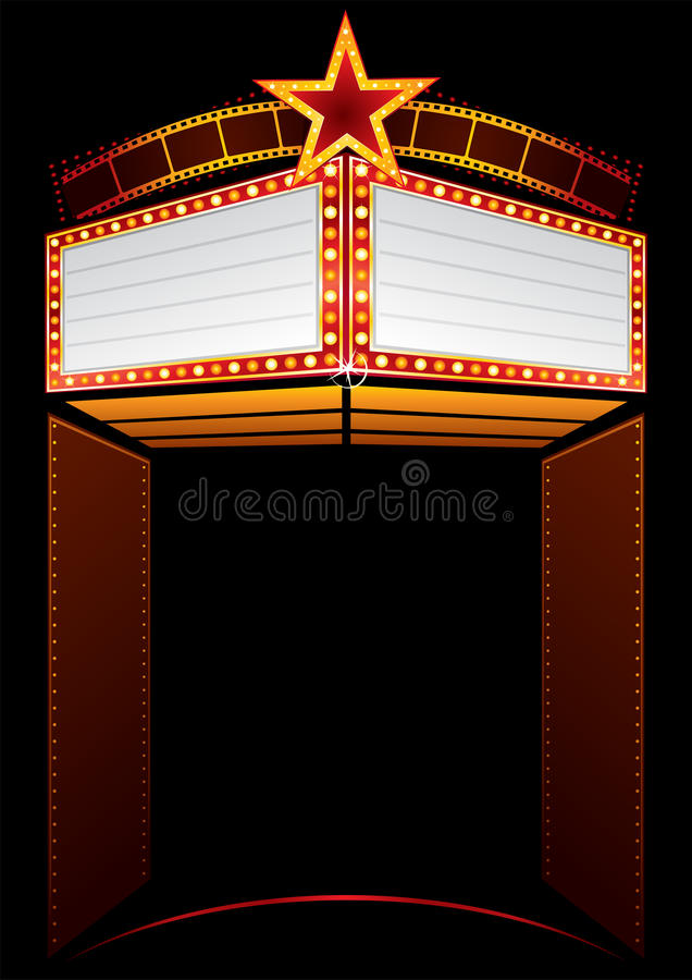Filmpremière stock illustratie
