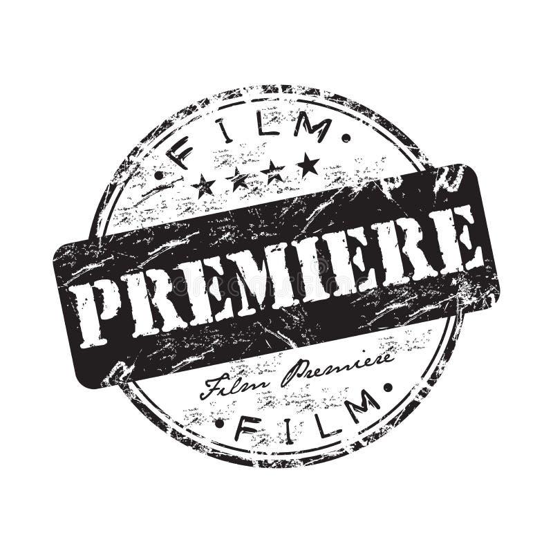 Filmpremiere-Stempel lizenzfreie abbildung