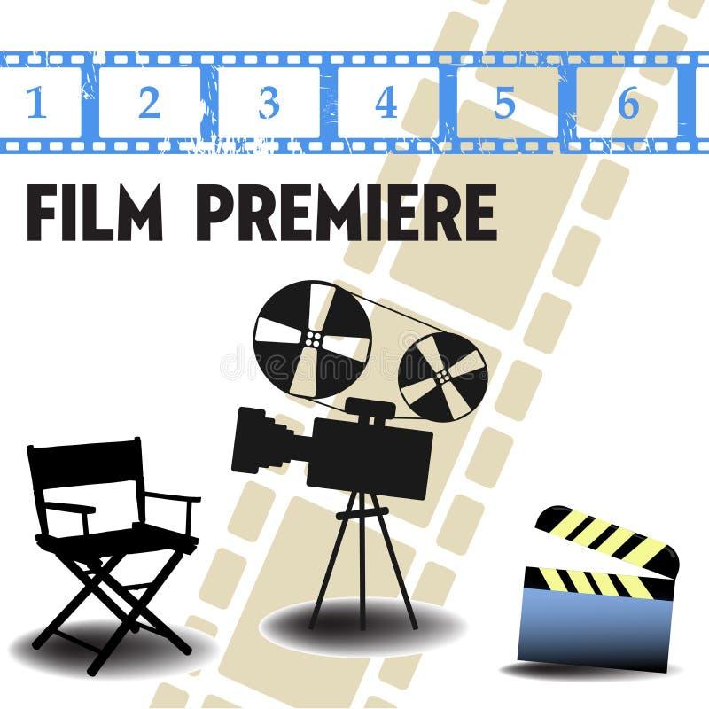 Filmpremierekonzept stock abbildung