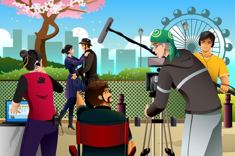 Filmproduktionplats vektor illustrationer