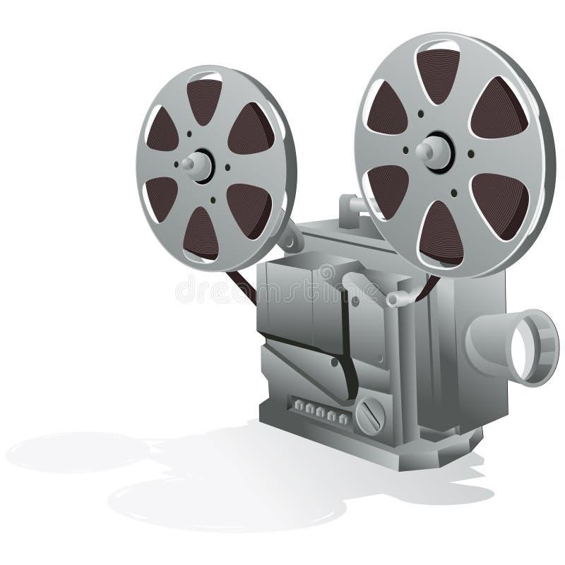 Filmprojector met het knippen van weg stock illustratie