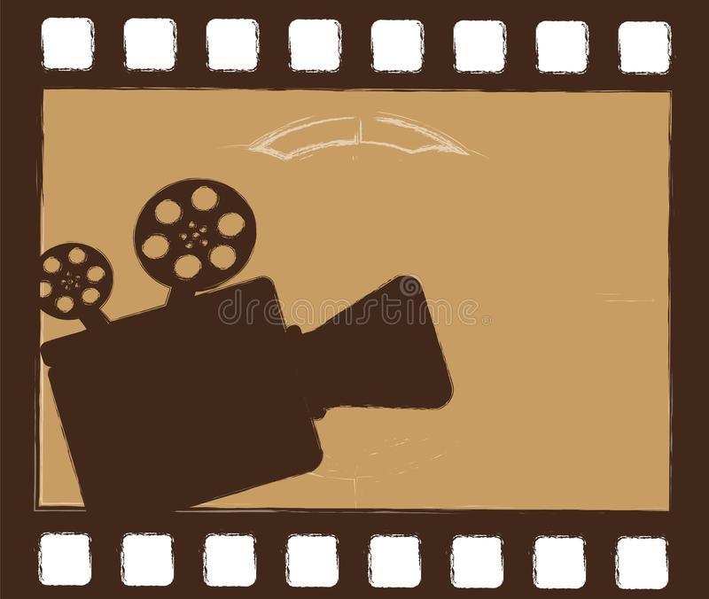filmprojektor stock illustrationer