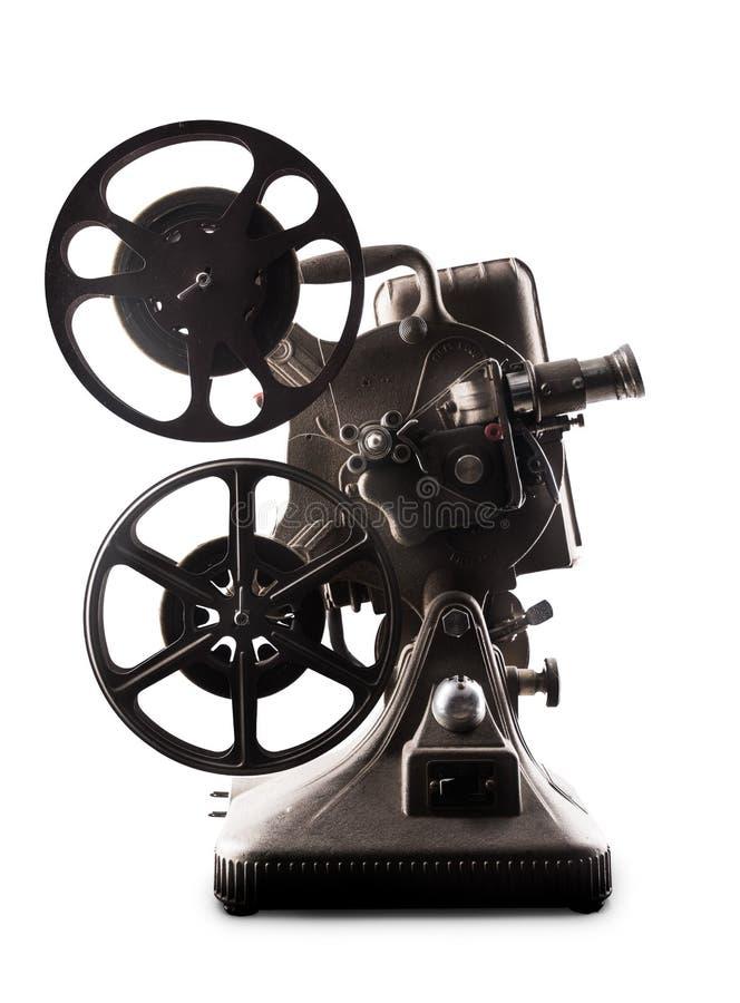 Filmprojektor auf einem weißen Hintergrund stockbild
