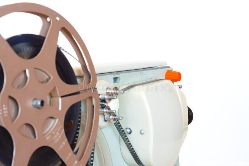 Filmprojektor för tappning 8mm royaltyfria foton