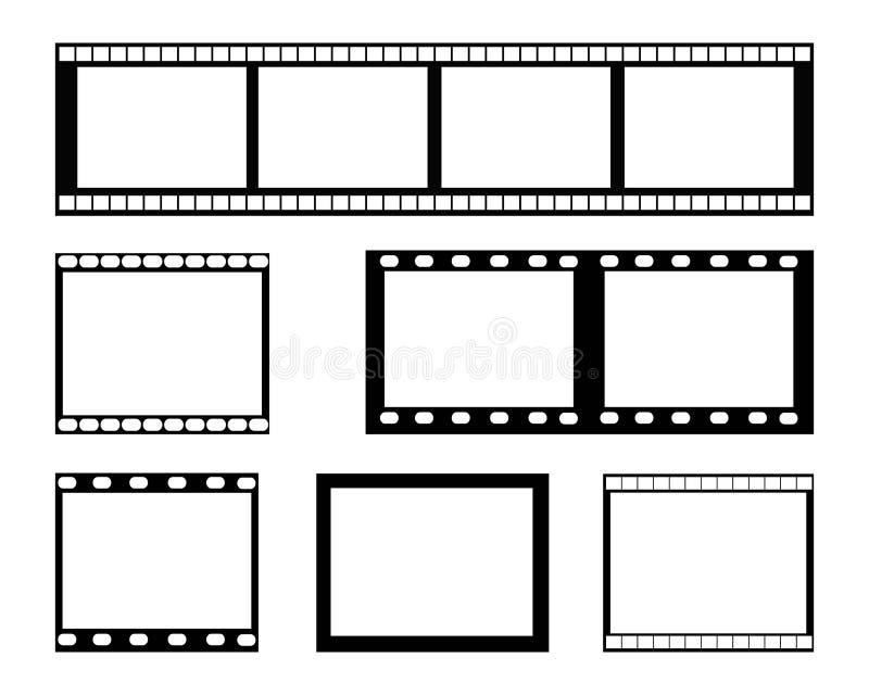 Filmremsaram royaltyfri illustrationer