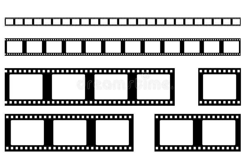 Filmremsavektor realistiskt royaltyfri illustrationer
