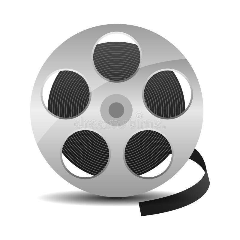Filmrolle mit Kinobandikone lokalisierte vektor abbildung