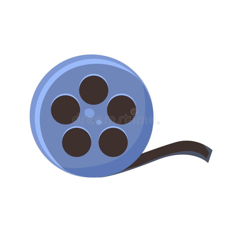 Filmrulle, bio och illustration för vektor för tecknad film för objekt för filmteater släkt färgrik stock illustrationer