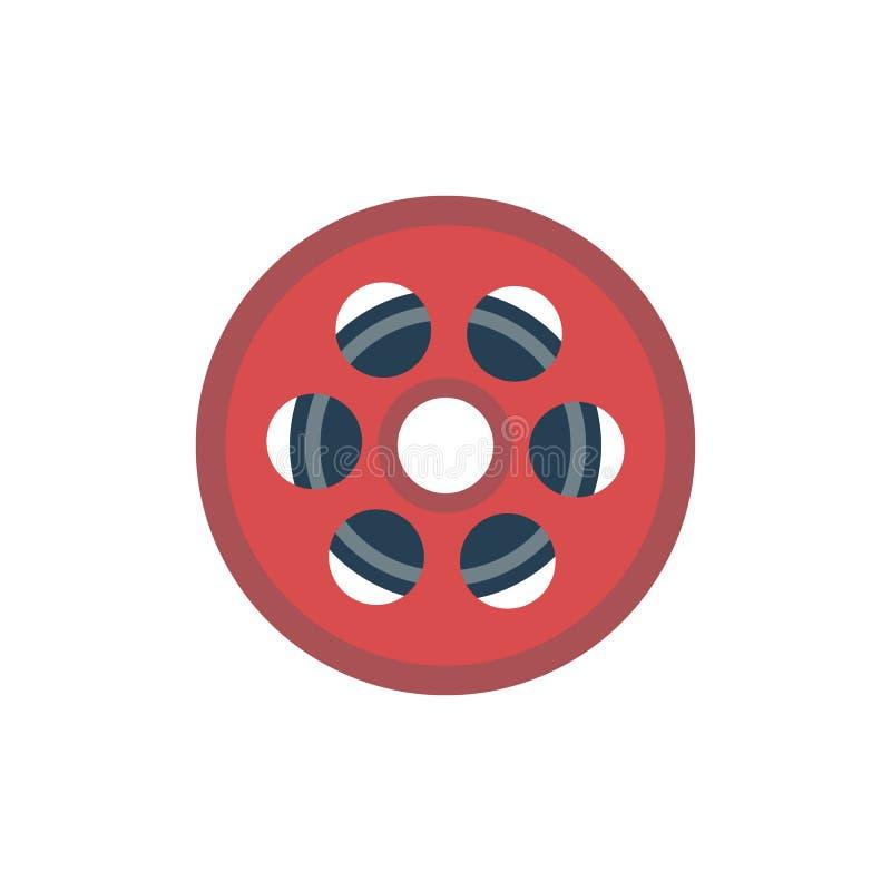 Filmrullsymbol royaltyfri illustrationer