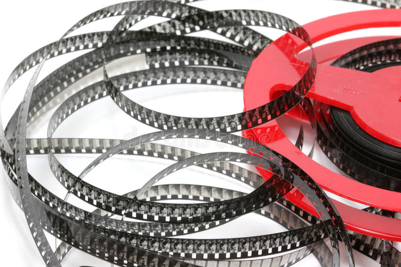 Films. Old 8 mm home films royalty free stock image