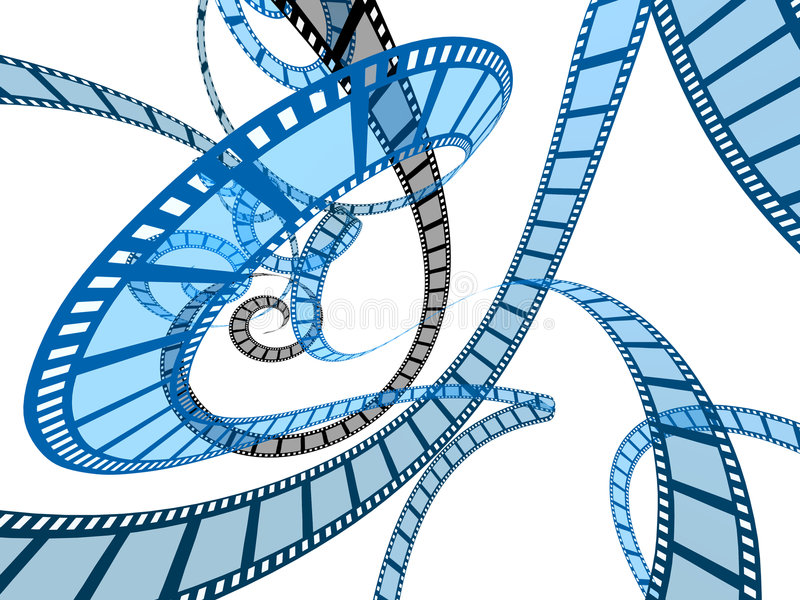 Films de film abstraits illustration stock