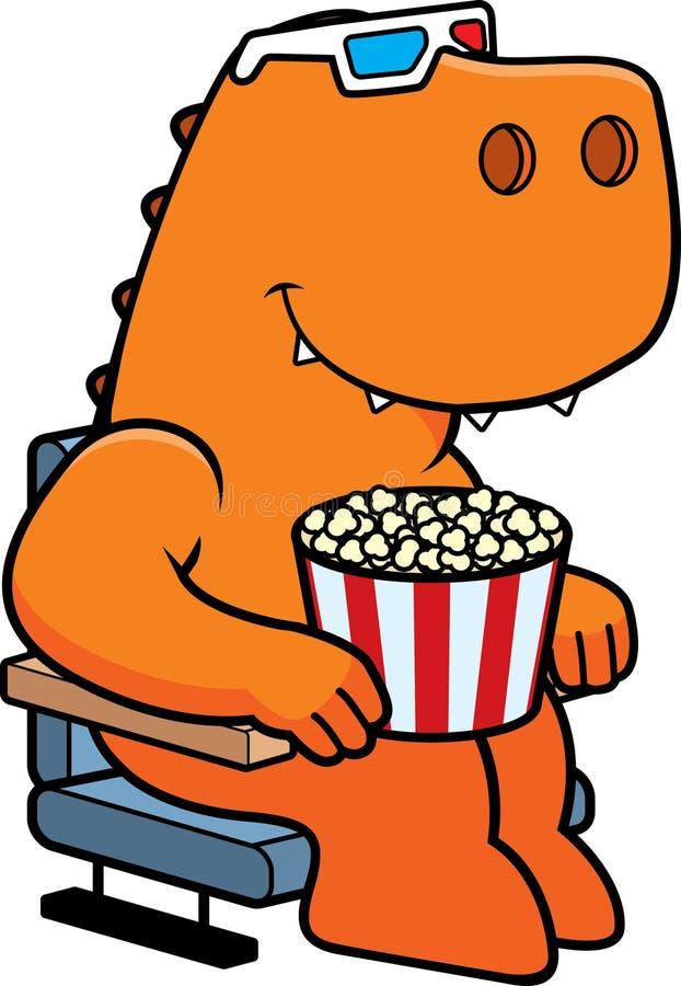 Films du dinosaure 3D de bande dessinée illustration libre de droits