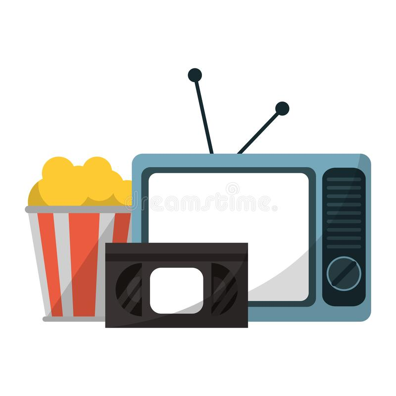 Films et télévision illustration stock