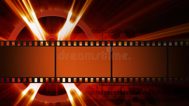 Films and film reel. With shine royalty free illustration
