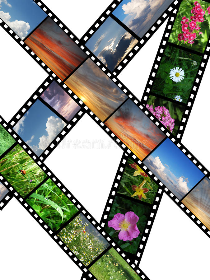 films olika bilder royaltyfri illustrationer