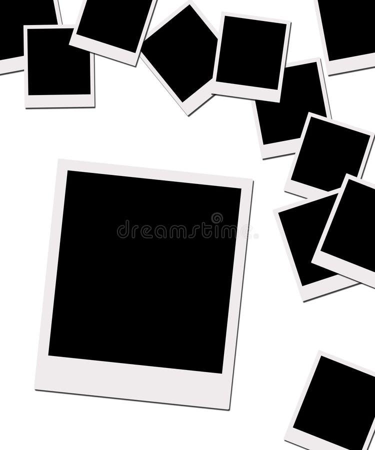 Films polaroïd (avec le chemin de découpage) illustration stock