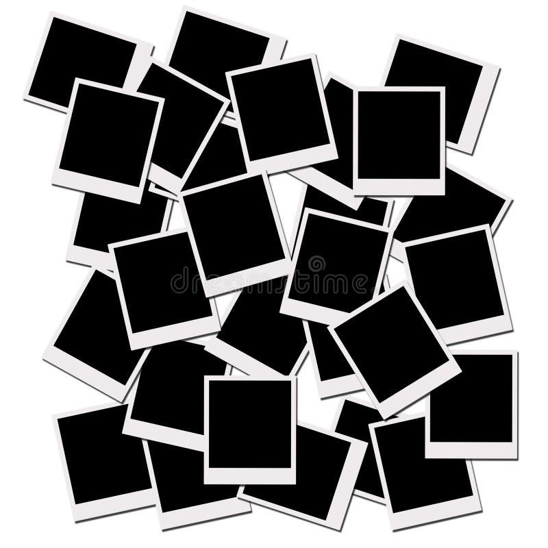 films polaroiden royaltyfri illustrationer