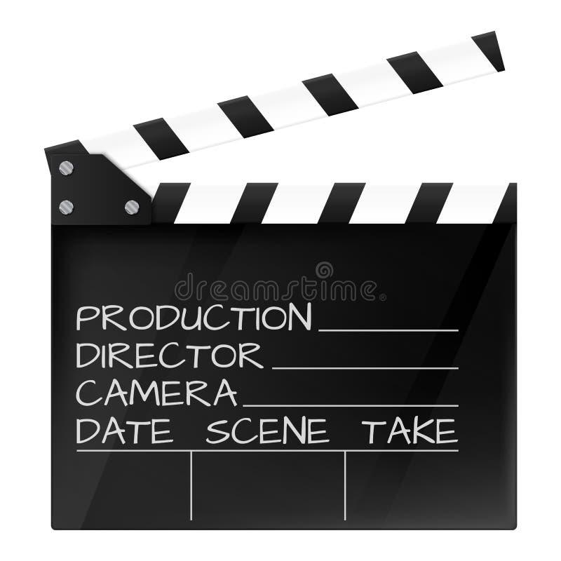 Filmscharnierventil lokalisiert Kinoikone Auch im corel abgehobenen Betrag stock abbildung