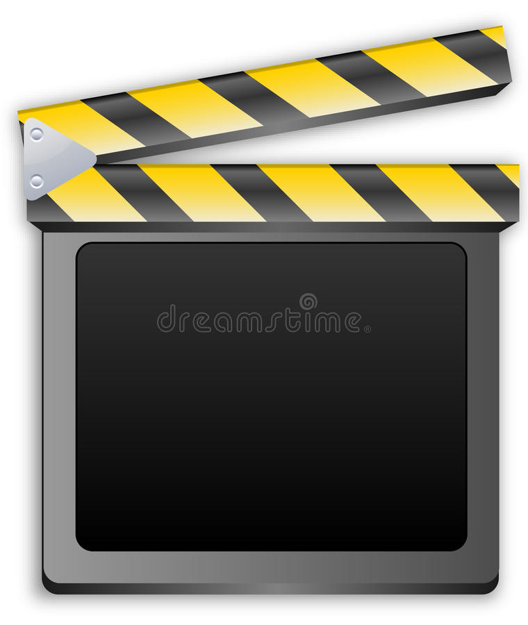 Filmscharnierventil, Schindel, clapperboard, Filmschiefer stock abbildung